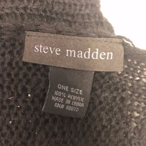 Steve Madden Blanket Scarf 64x108 Black Looseweave